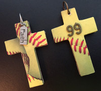 Softball Cross Pendant