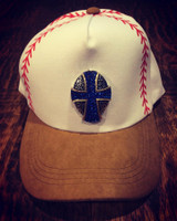 Royal Blue Celtic Cross Printed Baseball/Softball Cap