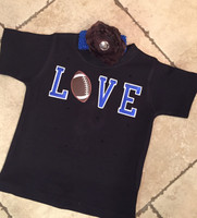 Football Love Sibling Tee