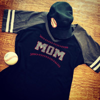 Classic Baseball Mom Bling Retro Jersey