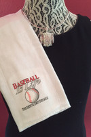 Baseball Is Life Baby Burp Cloth