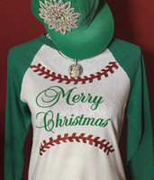 Baseball Christmas Raglan