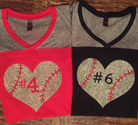 Personalized Baseball Heart Jerseys