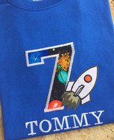 Space Rocket Birthday Tee