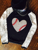 Lace Sleeved Raglan Baseball Tee