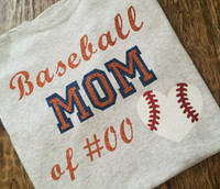 Custom Baseball Mom Of Tee