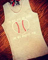 Baseball Sister Youth Tank Top