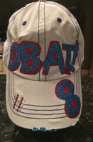 Custom Team Baseball Hat in Glitter With Player Number