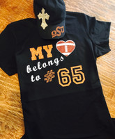 My heart Belongs Football Tee