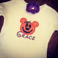 Personalized Pumpkin Mickey Disney Tee