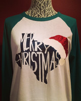 It's A Texas Christmas! Raglan Any State Available