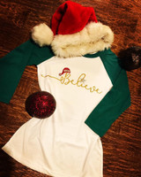 Believe Christmas Raglan
