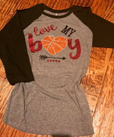 Love My Boy Basketball Tee