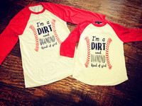 I'm A Dirt And Diamond Kind of Girl Baseball Softball RAGLAN