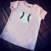 Baseball Glitter in Pink Infant Wear Size 12-18 month