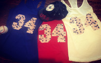 Patriotic American Flag Number Tanks