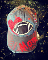 Football In My Heart Mom Cap