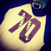 Football Number Raglan