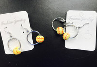 Softball Hoop Earrings