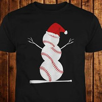 Baseball Frosty Holiday Tee