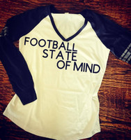 Football State Of Mind Retro Game Day Tee