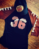 Football Varsity Number Raglan