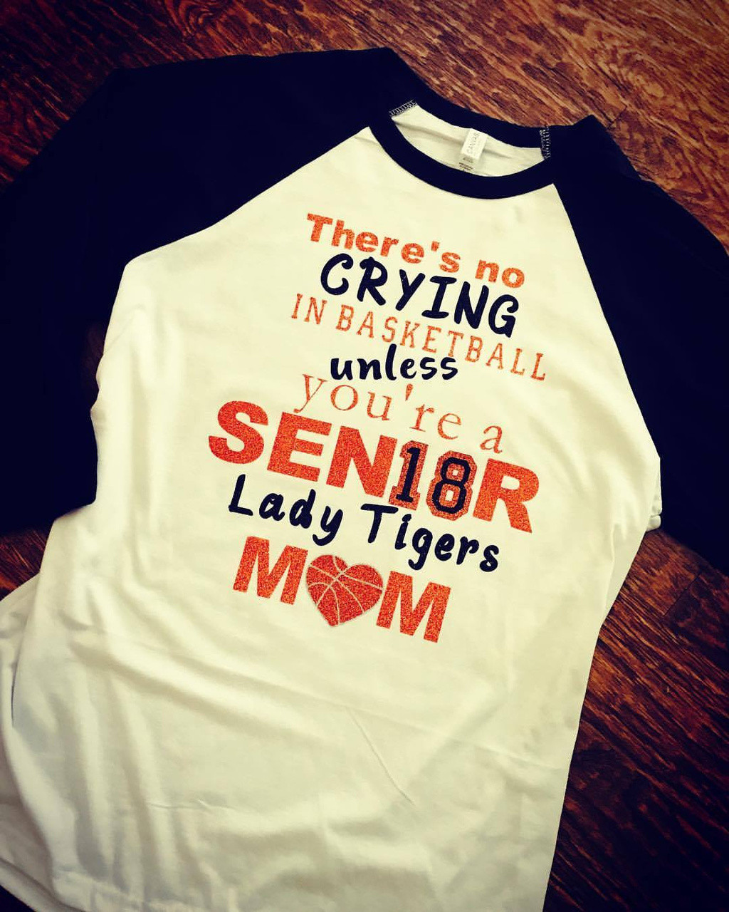 f7f7b755d ... Custom Senior Mom Basketball Tee. Image 1. Loading zoom