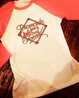 Diamonds Are  A Girl's Best Friend Pink Baseball Raglan