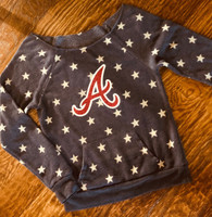 Off Shoulder Game Day Arsenal Stars Fleece Ladies