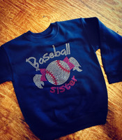 CLOSEOUT Baseball Sister Long Sleeve Tee Size 3T,4T, &5T