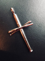 Baseball Bats Cross Pendant
