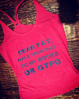 Dear Fat, Workout Tank