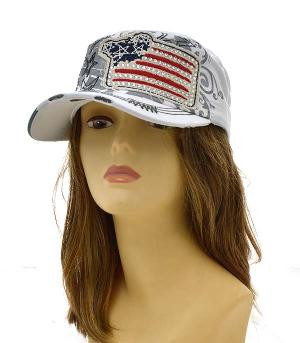 Patriotic Military Cap, fun accessory for this years Fourth of July celebration.
