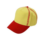 Printed Softball Stitches Cap