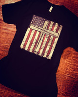 Vintage Baseball Bats Cross Flag Tee