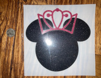 Disney Minnie Mouse Princess Transfers  in Glitter (12)