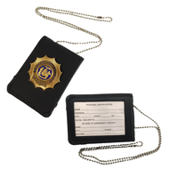 Black Leather Badge/ID Holder