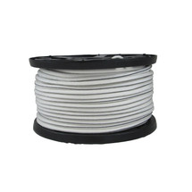 "3/8"" Polyester Bungee Shock Cord White w/ Black Tracer"