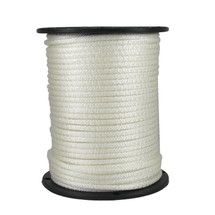 "1/4"" Solid Braid KnotRite Nylon Rope White"