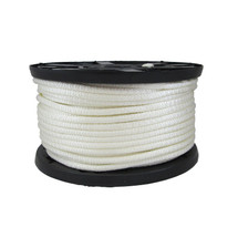 "3/8"" Solid Braid KnotRite Nylon Rope White"