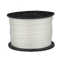 "1/8"" Solid Braid KnotRite Nylon Rope White"