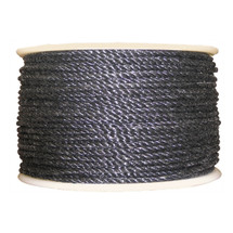 "1/4"" Twisted 3 Strand Polypropylene Rope Black"