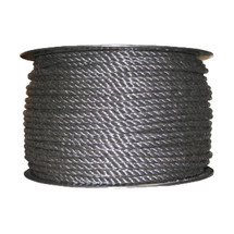 "5/16"" Twisted 3 Strand Polypropylene Rope Black"