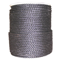 "3/8"" Twisted 3 Strand Polypropylene Rope Black"