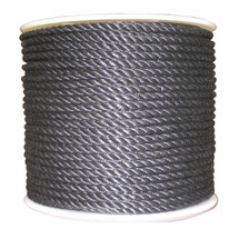 "1/2"" Twisted 3 Strand Polypropylene Rope Black"