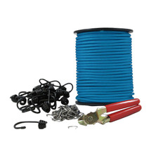 "1/4"" Polyester DIY Bungee Hook Kit (w/ 120 ft)"