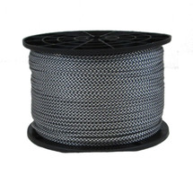 "1/8"" Polyester Rope Black and White Checkered"