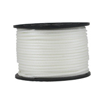 "3/16"" Solid Braid KnotRite Nylon Rope White"