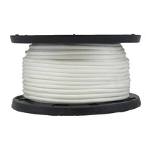 "5/16"" Solid Braid KnotRite Nylon Rope White"