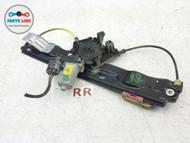 RANGE ROVER EVOQUE RIGHT REAR PASSENGER SIDE WINDOW GLASS REGULATOR W/ MOTOR OEM